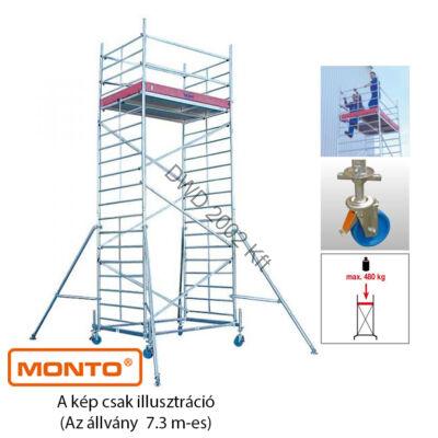 Krause 911155 Monto ProTec XXL 7,3m szélesített alumínium gurulóállvány  /201kg;2,75m/