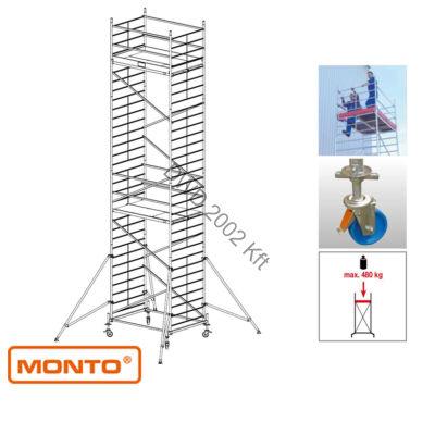 Krause 911179 Monto ProTec XXL 9,3m szélesített alumínium gurulóállvány  /220kg;2,75m/