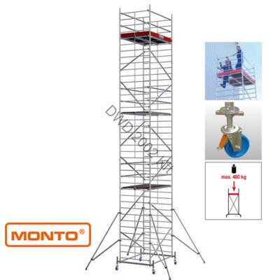 Krause 911209 Monto ProTec XXL 12,3m szélesített alumínium gurulóállvány  /283kg;2,75m/