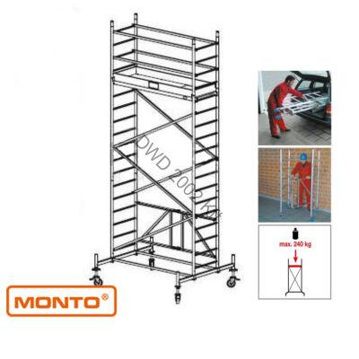 Krause 920034 Monto ProTec XS 5,8m alumínium univerzális gurulóállvány  /106kg;2,40m/