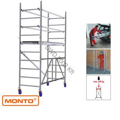 Krause 920126 Monto ProTec XS 3,7m alumínium univerzális gurulóállvány  /48kg;2,25m/